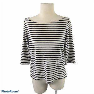 H&M White and Blue Striped Shirt